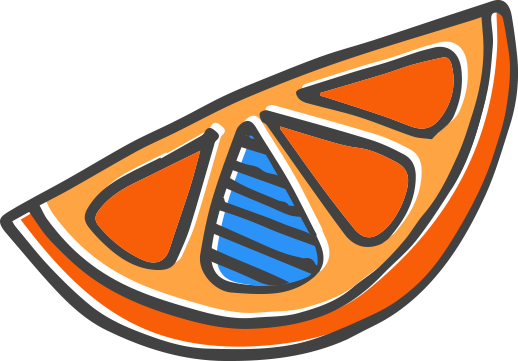 tiny blue orange logo