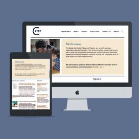 CFFPP WordPress web design + development // tiny blue orange