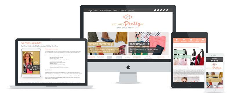 Get Your Pretty On WordPress web development // tiny blue orange