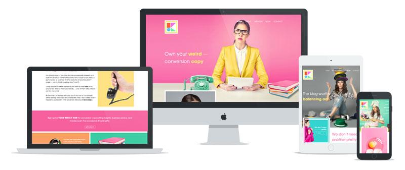Kira Hug WordPress web development // tiny blue orange