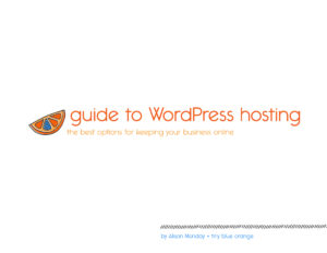 the guide to WordPress hosting // tiny blue orange