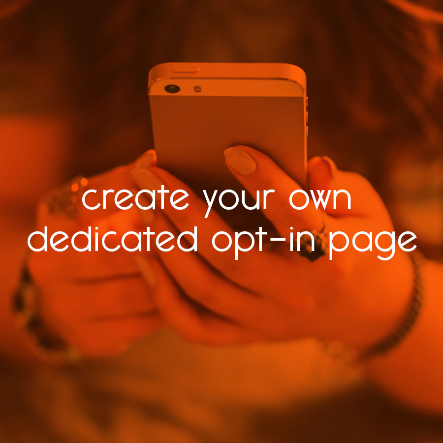 create your own dedicated opt-in page // tiny blue orange