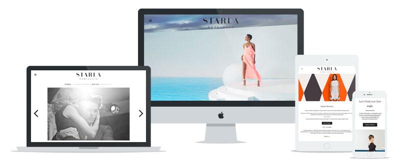 Starla Fortunato WordPress web development // tiny blue orange