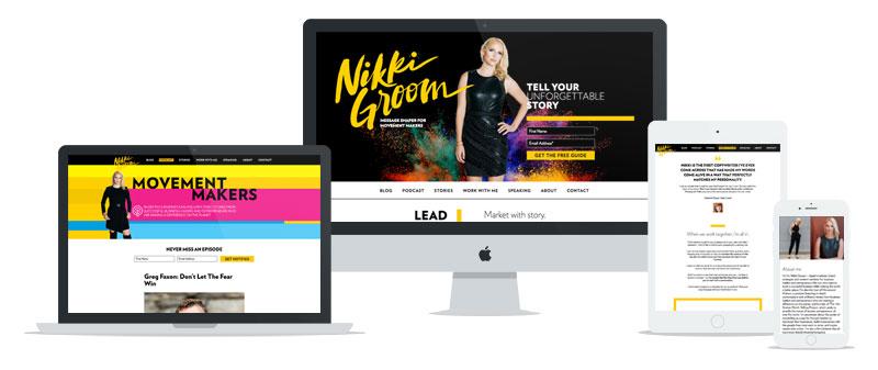Nikki Groom WordPress web development // tiny blue orange