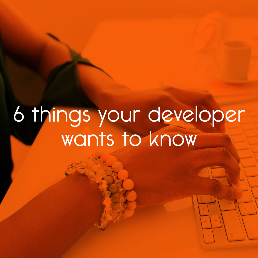 6 things your developer wants to know // tiny blue orange