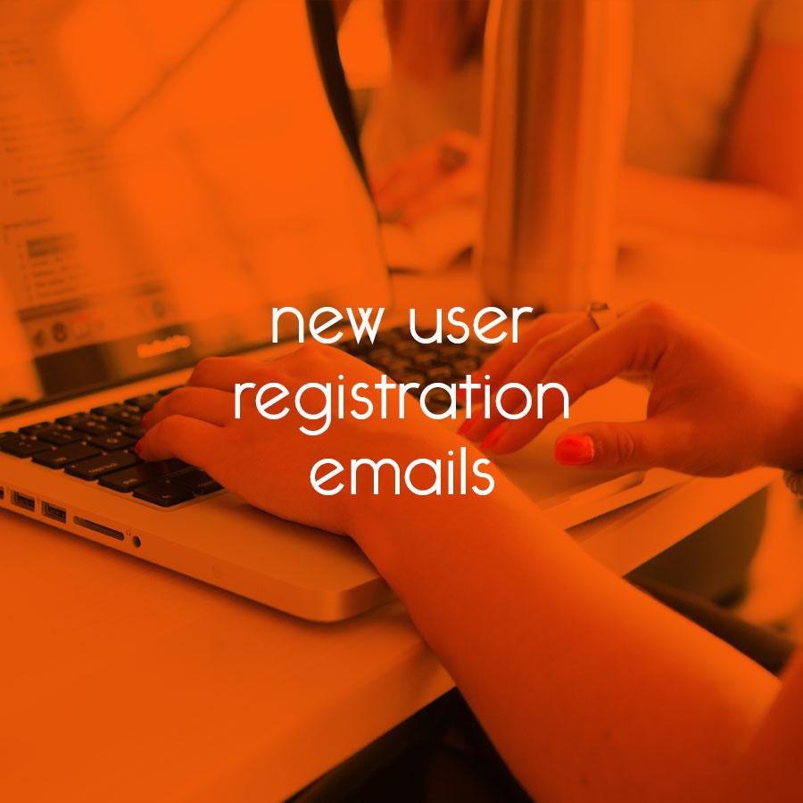 WordPress new user registration emails // tiny blue orange
