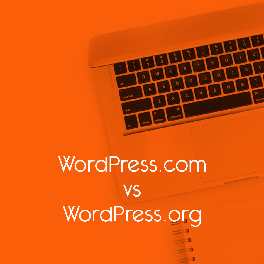 WordPress.com vs WordPress.org // tiny blue orange