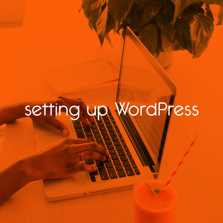 setting up WordPress // tiny blue orange